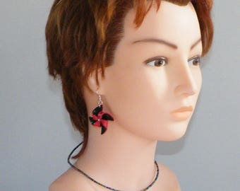 Necklace and earring sets wind earrings