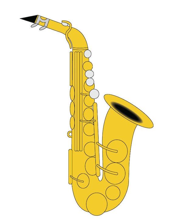 Saxophon clipart alto saxophon illustration saxophon - Dessin saxophone ...