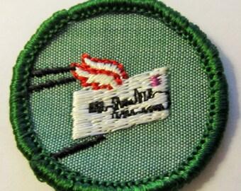 "Vintage Intermediate Girl Scout Badge ""Penpal"" circa 1960's"