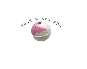 Rose Quartz - gemstone bath bombs - crystal bath bombs - geode - healing crystals - chakra - tumbled gemstones - handmade in NZ - gift ideas