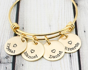Mom Bracelet - Personalized Mothers Day Gift for Women - Mom Gift from Daughter - Gold Bracelet for Women - Custom Bracelet for Mom