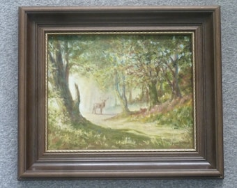 Original signed oil painting titled 'Early Morning , Hampshire'