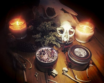 Baba Yaga's Hut 6oz Soy Witch's Candle, Handmade candle, Witchcraft, Herbs, Spell Candle