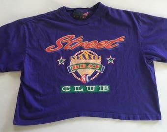 Active Elements Nexxit Beat Street Club Purple Crop Top 90's