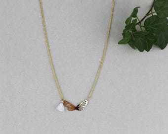 Gold Butterfly Necklace and tassel