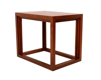 Teak Nesting Tables Jorgen Baekmark for Poul Christiansen Sold by Vitra Danish Modern
