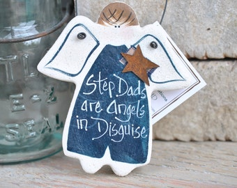 Father's Day Gift Step Dad Salt Dough Ornament Unique Gift