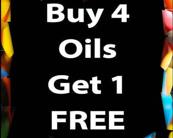Buy 4 oils and get 1 FREE
