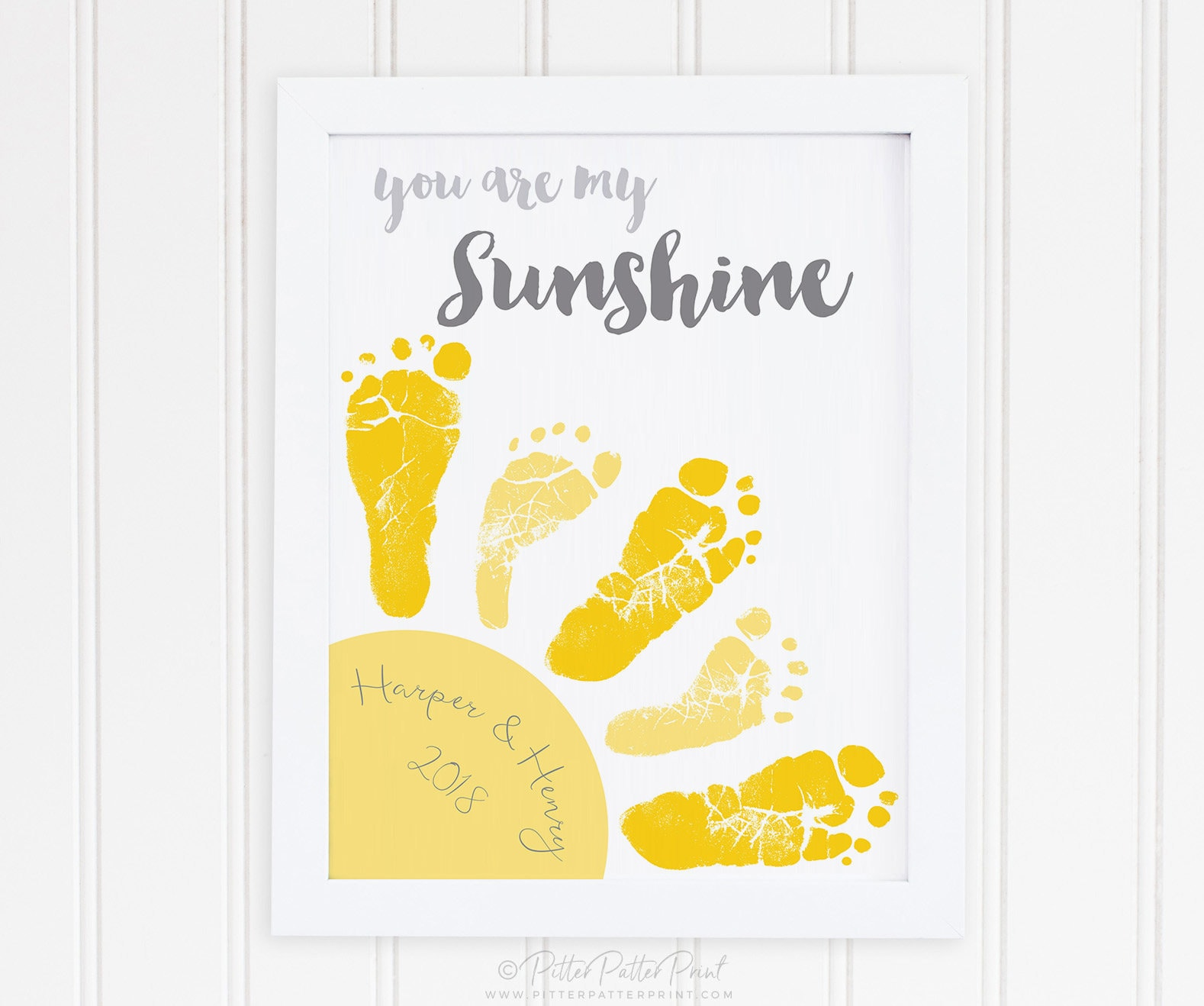 Sibling Twin You Are My Sunshine Wall Art Print Baby