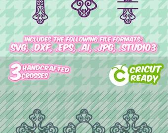 Cross svg 2, Christian, Cross design, Preppy, screen printing, SVG, DXF, EPS, Cutting File, Silhouette, Die Cut Machines, Cricut
