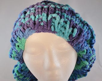 Hand Knit Bulky Yarn Slouch Hat