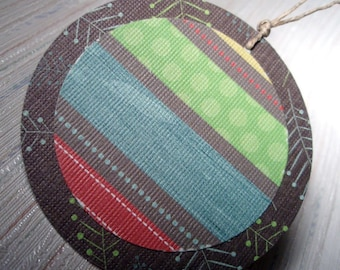 The Bright Stripes - Round Tags - Set of 10/Gift Tags/Embellishments