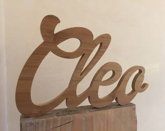 Cleo-Name of wood/wooden lettering