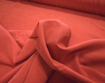 """Red Microfiber Shirting Apparel 70 Percent Polynosic and 30 Percent Polyester Fabric 59"""" Wide By The Yard 36"""" Long"""