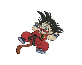 "4"" Goku Iron-On Patch - Dragonball Dragon Ball Z GT KAI Super Saiyan One Piece Naruto Code Geass Robotech Full Metal Jacket Cowboy Bebop"