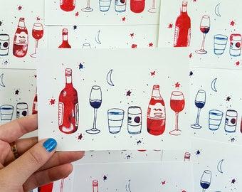 Gocco Fun Art Print