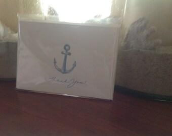 Anchor Thank You notecards