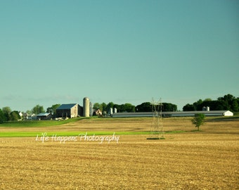 photography. art print. Pennsylvania farms.  Lancaster County.  Amish Country