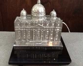 Souvenir Building Monument St. Peter's Basilica Rome Italy Light From 40s 50s