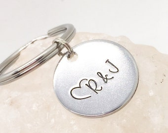 Anniversary Gifts for Him, Personalized Anniversary Keychain, Gift for Boyfriend, Custom Boyfriend Gifts, Husband Gifts, Anniversary Keyring