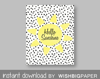 30%OFF HELLO SUNSHINE Wall Art-Instant Download. Hello Sunshine Print. Hello Sunshine Wall Art. Hello Sunshine Printable. Hello Sunshine Art