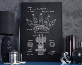 Wood Bending Machine Patent Print, Machine, Wall Art, Patent Poster, Blueprint, Patent Print, Decoration - DA0038
