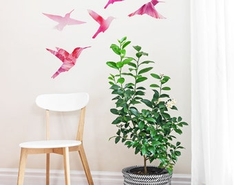 Watercolor Bird Family | Removable Wall Sticker
