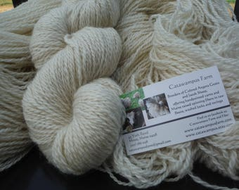 Natural Farm Fresh 60/40 Romney Wool and Mohair Worsted Weight Yarn, approx 4.4 oz/260 yards