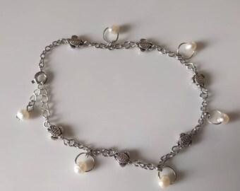 Salt Water Pearl, Turtle Anklet