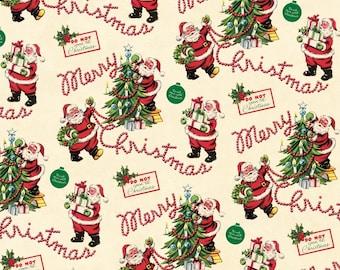 Cavallini Vintage Santa Paper