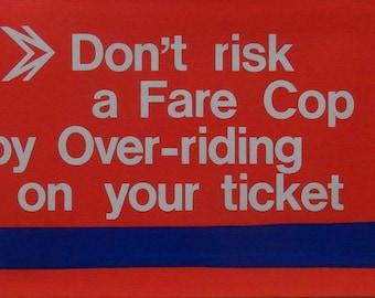 Original 1970s Harry Stevens Bus Panel Poster