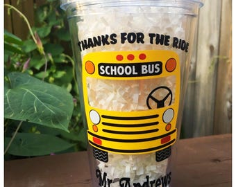 Bus Driver Gift / School Bus Driver Appreciation Gift / Personalized School Bus Driver Tumbler / Bus Driver Thank-You Gift