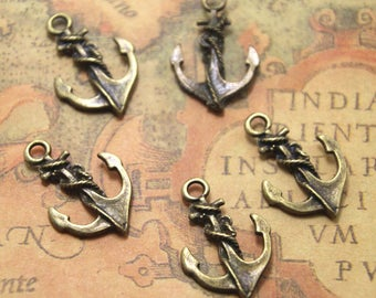 20pcs Anchor charms Bronze tone Anchor Charm Pendants 18x27mm ASD0887
