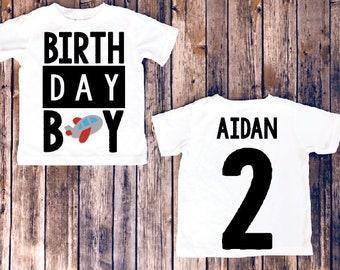 Birthday Boy Shirt, airplane birthday, Toddler boy birthday, airplane shirt, boys birthday party, birthday customize shirt
