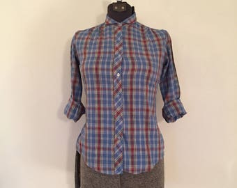 Vintage Plaid Shirt / Small / Little Lisa