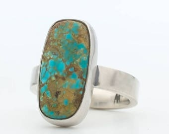 Turquoise Ring, Royston Turquoise, Natural Turquoise, Turquoise, Handmade, Silver Ring, Turquoise Jewelry, Southwestern Modern Turquoise