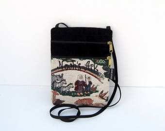 Noah's Ark Tapestry Cross Body Flat Purse