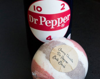 Cherry Vanilla Dr. Pepper Bubbling Bath Bomb