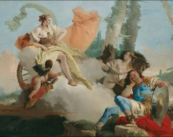 Poster, Many Sizes Available; Giovanni Battista Tiepolo Rinaldo Enchanted By Armida