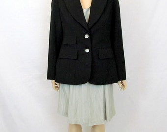 Black Jacket Black Blazer Small Blazer Fitted Jacket 90's Jacket Minimalist Jacket Vintage Jacket Minimalist Blazer 90's Blazer Suit Jacket