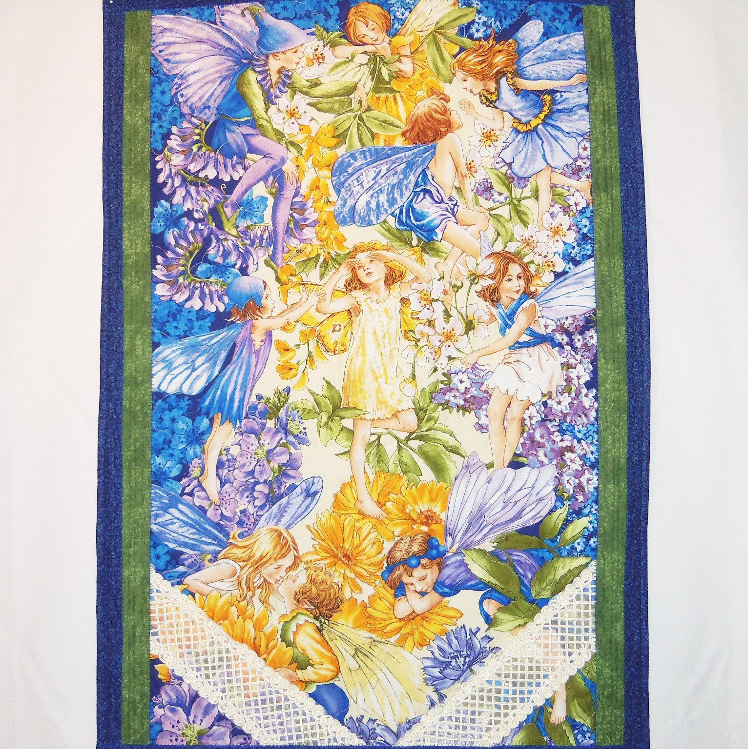 Fairy Wall Hanging Quilted Fibre Art Nursery Room Decor
