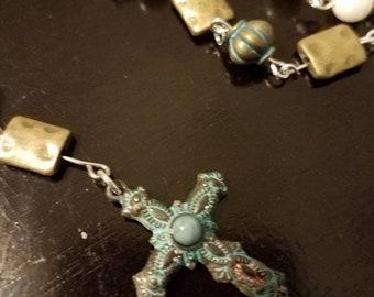 Antique White Rosary
