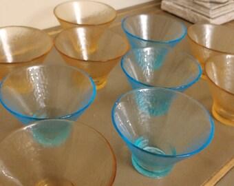 Ciotola di gelato fatti a mano di vetro italiano - 10 disponibili