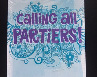 Invitations & Envelopes Calling All Partiers Party