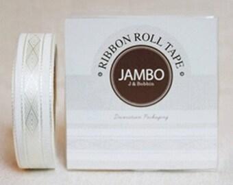Adhesive Fabric Tape - Diamond Ivory (0.6in)