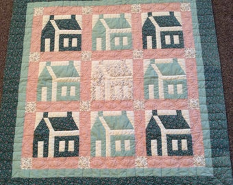 "School House Quilted Wallhanging, 40"" Square"