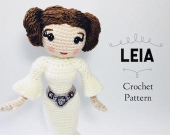 CROCHET PATTERN Leia Doll // Star Wars Crochet Pattern // Princess Leia Crochet Pattern // Amigurumi // Doll Crochet Pattern