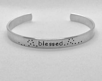 Blessed Stamped Cuff
