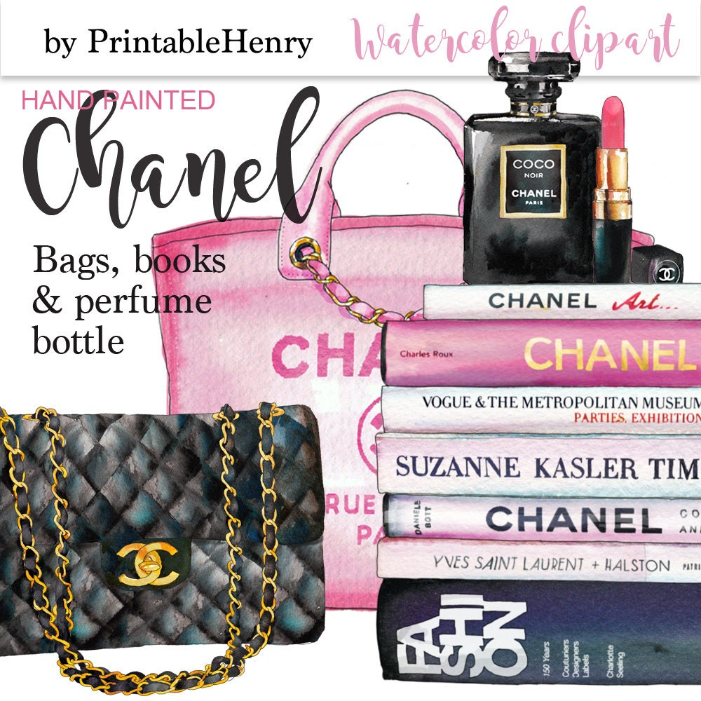 Coco Chanel clipart Chanel perfume glam clipart fashion