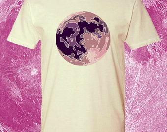 Pastel Purple Moon T-shirt